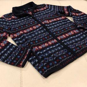 EUC UNIQLO Boys Fleece Zip Up Jacket Sweater